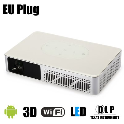 Y - 9 DLP 3D Projector Smart TV Android BoxProjectors<br>Y - 9 DLP 3D Projector Smart TV Android Box<br><br>Audio Formats: MP3 / WMA / MP2 / MP3 / OGG / AAC / M4A / MA4 / FLAC / 3GP / WAV / AC3 / M3U / RM / WMV / DTS<br>Bluetooth: Bluetooth 4.0<br>Brightness: 3000 lumens<br>Color: White<br>Contrast Ratio: 1000:1<br>Display type: DLP<br>Function: Bluetooth<br>Image Scale: 16:10,16:9,4:3<br>Image Size: 20 - 300 inch<br>Interface: Mini VGA, SPDIF, Power Charge Port, TF Card Slot, HDMI, DC Port, 3.5mm Audio, USB<br>Lamp: LED<br>Model: Y - 9<br>Native Resolution: 1280 x 800<br>Operating system: Android<br>Package Contents: 1 x Y - 9 DLP Projector, 1 x HDMI Cable, 1 x Power Adapter, 1 x Remote Control, 1 x English Manual<br>Package size (L x W x H): 24.50 x 16.50 x 9.00 cm / 9.65 x 6.5 x 3.54 inches<br>Package weight: 1.6200 kg<br>Picture Formats: JPG / JPEG / GIF / BMP / PNG<br>Power Supply: 100-240V<br>Product size (L x W x H): 19.50 x 12.00 x 3.70 cm / 7.68 x 4.72 x 1.46 inches<br>Product weight: 1.1000 kg<br>Projection Distance: 1.2 - 7.8 m<br>RAM : 1GB<br>Resolution Support: 1080P<br>ROM: 8GB<br>System: Android 4.4<br>Throw Ration: 1.19:1<br>Video Formats: MP4 / MOV / 3GP / AVI / DIVX / FLV / ISO / M2TS / MKV / MPG / RMVB / TP / TRP / TS / WMV / VOB / DAT / ASF<br>WIFI: 802.11b/g