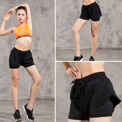 FBF005 Female Sports ShortsYoga<br>FBF005 Female Sports Shorts<br><br>Color: Black<br>Features: Quick-drying, Breathable<br>Gender: Women<br>Material: Polyester<br>Model Number: FBF005<br>Package Content: 1 x FBF005 Sports Shorts<br>Package size: 28.00 x 22.00 x 1.00 cm / 11.02 x 8.66 x 0.39 inches<br>Package weight: 0.1810 kg<br>Season: Summer, Spring, Autumn<br>Size: L,M,XL