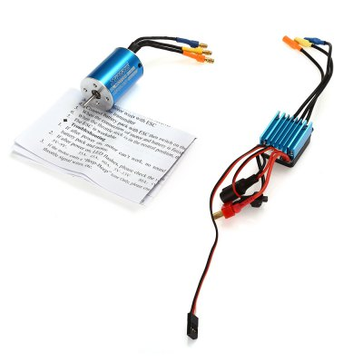 Surpass 2838 4500KV Sensorless Motor + 35A Brushless ESCESC<br>Surpass 2838 4500KV Sensorless Motor + 35A Brushless ESC<br><br>Brand: SURPASS<br>Motor Type: Brushless Motor<br>Package Contents: 1 x Motor, 1 x ESC, 1 x English Manual<br>Package size (L x W x H): 8.00 x 6.50 x 5.00 cm / 3.15 x 2.56 x 1.97 inches<br>Package weight: 0.146 kg<br>Type: ESC, Motor