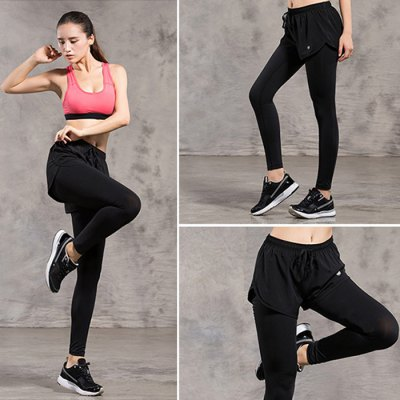 FBF001 Female Running PantsYoga<br>FBF001 Female Running Pants<br><br>Color: Black,Grey<br>Features: Quick-drying, Breathable<br>Gender: Women<br>Material: Polyester<br>Model Number: FBF001<br>Package Content: 1 x FBF001 Sports Pants<br>Package size: 25.00 x 20.00 x 2.00 cm / 9.84 x 7.87 x 0.79 inches<br>Package weight: 0.2400 kg<br>Product weight: 0.2000 kg<br>Season: Winter, Summer, Spring, Autumn<br>Size: L,M,XL
