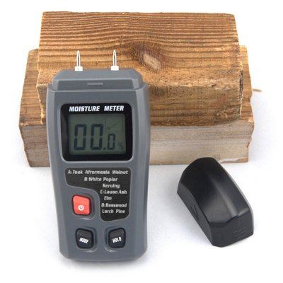 BSIDE EMT01 Portable Wood Moisture Meter with LCD DisplayTesters &amp; Detectors<br>BSIDE EMT01 Portable Wood Moisture Meter with LCD Display<br><br>Accuracy  : 0.5 percent<br>Brand: BSIDE<br>Material: ABS<br>Measurement range : 0 - 99.9 percent<br>Model: EMT01<br>Package Contents: 1 x Wood Moisture Meter, 1 x English Manual<br>Package size (L x W x H): 15.00 x 8.50 x 4.00 cm / 5.91 x 3.35 x 1.57 inches<br>Package weight: 0.1400 kg<br>Product size (L x W x H): 13.00 x 7.00 x 3.00 cm / 5.12 x 2.76 x 1.18 inches<br>Product weight: 0.1100 kg<br>Resolution: 0.1 percent<br>Special function: Wood Moisture Meter with LCD Display