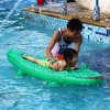 Inflatable Crocodile Rider PVC Float Row Swimming Boats for sale