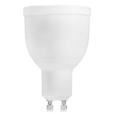 MiLight WiFi LED Spot BulbSmart Lighting<br>MiLight WiFi LED Spot Bulb<br><br>Brand: MiLight<br>Holder: GU10<br>Output Power: 5W<br>Voltage (V): AC 86 - 265V<br>Emitter Types: SMD 5730<br>Total Emitters: 6<br>Luminous Flux: 220LM<br>Available Light Color: RGB + Warm White,RGB + White<br>Features: APP Control,Easy to use,Energy Saving,Long Life Expectancy,Remote Control,WiFi<br>Function: Commercial Lighting,Home Lighting,Studio and Exhibition Lighting<br>Body Color: White<br>Sheathing Material: Aluminum Alloy<br>Product weight: 0.077 kg<br>Package weight: 0.119 kg<br>Product size (L x W x H): 7.50 x 5.00 x 5.00 cm / 2.95 x 1.97 x 1.97 inches<br>Package size (L x W x H): 8.50 x 6.50 x 6.50 cm / 3.35 x 2.56 x 2.56 inches<br>Package Contents: 1 x MiLight Smart Bulb