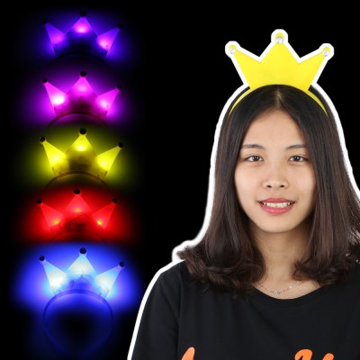 5pcs BRELONG Crown LED Hair Band