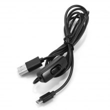 1.5m 5V 2A Micro USB Switch Charging Cable for Raspberry Pi