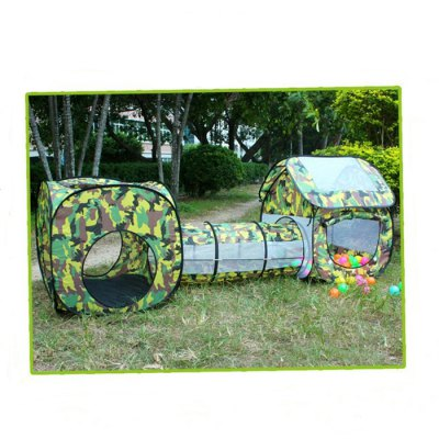 Foldable Playhouse Tunnel Tent Outdoor Indoor Toy for ChildOutdoor Fun &amp; Sports<br>Foldable Playhouse Tunnel Tent Outdoor Indoor Toy for Child<br><br>Materials: Other<br>Theme: Family,Sport<br>Features: Creative Toy<br>Series: Entertainment<br>Package weight: 1.220 kg<br>Product size: 230.00 x 70.00 x 85.00 cm / 90.55 x 27.56 x 33.46 inches<br>Package size: 30.00 x 20.00 x 10.00 cm / 11.81 x 7.87 x 3.94 inches<br>Package Contents: 1 x Tunnel, 1 x Bag, 2 x Playhouse, 1 x Set of Stand Poles