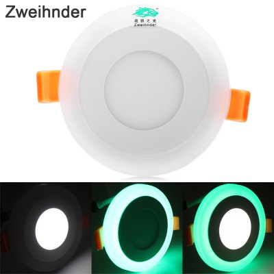 Zweihnder LED Ceiling Panel Lamp Dual Light Source 3 Modes 540LM 10 x SMD2835