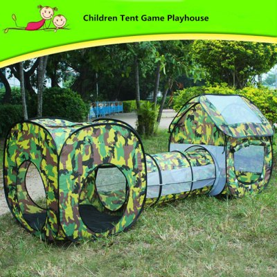 Foldable Playhouse Tunnel Tent Outdoor Indoor Toy for Child