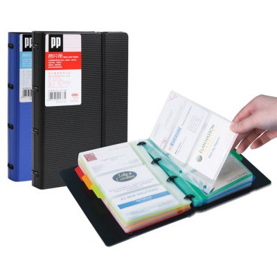 Deli 5778 180 Page Business Card Holder for Male