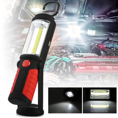 Rechargeable 350Lm COB LED Work Light Torch Power Bank Function Magnetic Hands-free Lighting