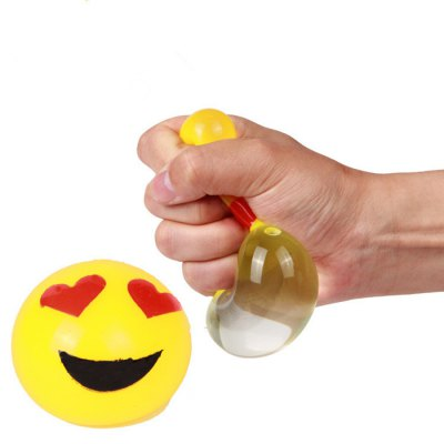Novelty Smile Face Shape Squeeze Elastic Vent Toy