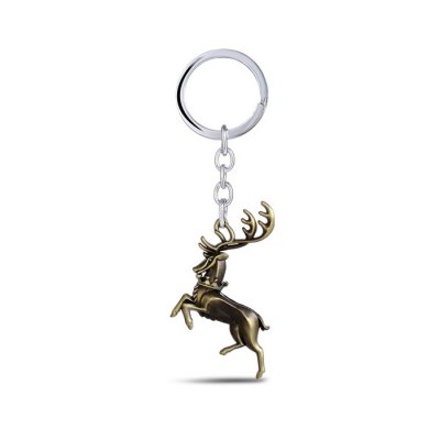 Buck Shape Key Ring