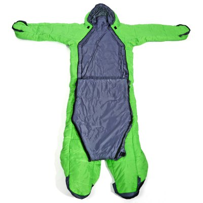 Human-shaped Warm-keeping Windproof Sleeping BagHammock and Sleeping Bags<br>Human-shaped Warm-keeping Windproof Sleeping Bag<br><br>Best Use: Backpacking,Camping,Casual,Noon break,Travel<br>Color: Blue,Green,Orange<br>Features: Comfortable, Keep Warm, Water Resistant<br>Package Contents: 1 x Sleeping Bag, 1 x Storage Bag<br>Package Dimension: 45.00 x 25.00 x 25.00 cm / 17.72 x 9.84 x 9.84 inches<br>Package weight: 2.0200 kg<br>Product Dimension: 210.00 x 204.00 x 10.00 cm / 82.68 x 80.31 x 3.94 inches<br>Product weight: 1.7500 kg<br>Season: 3 Seasons<br>Suitable for: 1 Person<br>Type: Single<br>Unfolding Size: 210 x 204 x 10cm