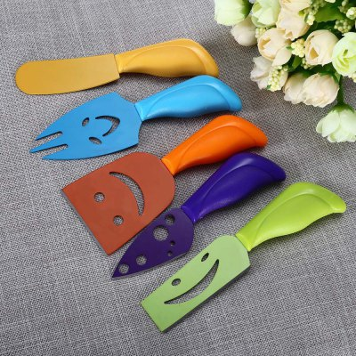 5pcs Colorful Cheese Knife Set