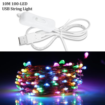 10M USB 100 x 0603 5V 6W Waterproof LED String Light Bendable Copper Wire