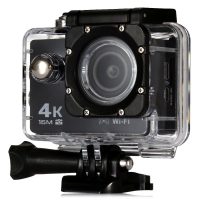 V3 4K WiFi Sport Camera 16MPAction Cameras<br>V3 4K WiFi Sport Camera 16MP<br><br>Model: V3<br>Type: Sports Camera<br>Type of Camera: 4K<br>Chipset Name: Allwinner<br>Chipset: Allwinner V3<br>Sensor: CMOS<br>Max External Card Supported: TF 64G (not included)<br>Screen size: 2.0inch<br>Screen type: LCD<br>Screen resolution: 320x240<br>Battery Type: Removable<br>Capacity: 900mAh<br>Charge way: AC adapter,USB charge by PC<br>Working Time: 70 - 90 minutes at 1080P<br>Wide Angle: 170 degree wide angle<br>Camera Pixel : 16MP / 12MP / 8MP / 5MP / 2MP<br>Optical Zoom  : Yes<br>Video format: MP4<br>Video Resolution: 1080P(30fps),1080P(60fps),2.7K (30fps),4K (30fps),720P (120fps),720P (30fps),720P (60fps)<br>Video Frame Rate: 120fps,30FPS,60FPS<br>Image Format : JPG<br>Audio System: Built-in microphone/speaker (AAC)<br>Exposure Compensation: +1,+2,+3,-1,-2,-3,0<br>White Balance Mode: Cloudy,Fluorescent,Incandescent,Sunny<br>Microphone: Built-in<br>WIFI: Yes<br>Loop-cycle Recording : Yes<br>Loop-cycle Recording Time: 2min,3min,5min<br>Motion Detection: Yes<br>Night vision : No<br>HDMI Output: Yes<br>Delay Shutdown : Yes<br>Time Stamp: Yes<br>Camera Timer: No<br>Time lapse: No<br>Auto Focusing: No<br>Anti-shake: No<br>Aerial Photography: No<br>Language: Deutsch,Dutch,English,French,Indonesian,Italian,Japanese,Korean,Polski,Portuguese,Russian,Spanish,Thai<br>Frequency: 50Hz,60Hz<br>Product weight: 0.058 kg<br>Package weight: 0.560 kg<br>Product size (L x W x H): 5.92 x 2.98 x 4.10 cm / 2.33 x 1.17 x 1.61 inches<br>Package size (L x W x H): 16.50 x 6.00 x 27.00 cm / 6.5 x 2.36 x 10.63 inches<br>Package Contents: 1 x V3 Sport Camera, 1 x Battery, 1 x Power Adapter, 1 x Waterproof Housing, 1 x Holder, 1 x Bicycle Bracket, 1 x Quick Release Mount + Screw, 3 x Connector + Screw, 1 x Back Cover, 1 x Tripod Mount A