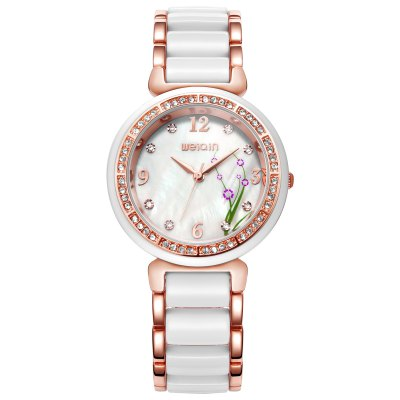 WeiQin 1096 Fashion Rhinestone Scale Women Quartz WatchWomens Watches<br>WeiQin 1096 Fashion Rhinestone Scale Women Quartz Watch<br><br>Brand: Weiqin<br>Watches categories: Female table<br>Watch style: Fashion<br>Available color: Gold,Rose Gold,Silver<br>Movement type: Quartz watch<br>Shape of the dial: Round<br>Display type: Analog<br>Case material: Alloy<br>Band material: Alloy + plastic<br>Clasp type: Jewelry clasp<br>Water resistance : Life water resistant<br>Dial size: 3.59 x 3.59 x 0.96 cm / 1.41 x 1.41 x 0.38 inches<br>Band size: 22 x 1.74 cm / 8.66 x 0.69 inches<br>Product weight: 0.081 kg<br>Package weight: 0.141 kg<br>Product size (L x W x H): 22.00 x 3.59 x 0.96 cm / 8.66 x 1.41 x 0.38 inches<br>Package size (L x W x H): 28.00 x 8.00 x 3.50 cm / 11.02 x 3.15 x 1.38 inches<br>Package Contents: 1 x WeiQin 1096 Fashion Women Quartz Watch