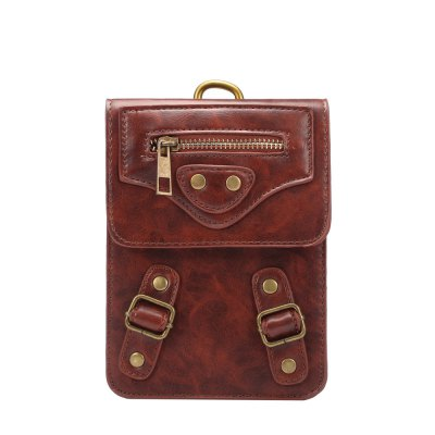 727 6.3 inches PU Leather Waist Wallet with Hanging Buckle