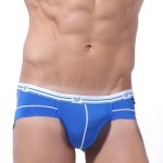 Men Print Protective Nylon Low Waist Sexy Briefs