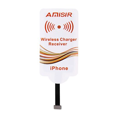 Amisir Wireless Charger Receiver AcceptorChargers &amp; Cables<br>Amisir Wireless Charger Receiver Acceptor<br><br>Brand: Amisir<br>Color: White<br>Mainly Compatible with: iPhone 6, iPhone 6S<br>Package Contents: 1 x Wireless Charger Receiver<br>Package size (L x W x H): 17.00 x 9.00 x 1.00 cm / 6.69 x 3.54 x 0.39 inches<br>Package weight: 0.037 kg<br>Product size (L x W x H): 11.70 x 4.40 x 0.10 cm / 4.61 x 1.73 x 0.04 inches<br>Product weight: 0.005 kg<br>Type: Wireless Charger Receivers