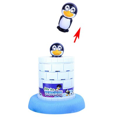 Save The Penguin Table GameNovelty Toys<br>Save The Penguin Table Game<br><br>Features: Creative Toy, Educational<br>Materials: ABS<br>Package Contents: 1 x Penguin, 1 x Base, 4 x Shovel<br>Package size: 26.50 x 21.50 x 15.00 cm / 10.43 x 8.46 x 5.91 inches<br>Package weight: 0.560 kg<br>Product size: 20.00 x 18.00 x 18.00 cm / 7.87 x 7.09 x 7.09 inches<br>Series: Entertainment<br>Theme: Family