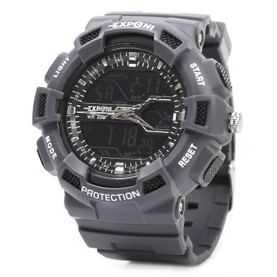 EXPONI 3230 Backlight Outdoor Sports Digital Quartz Watch