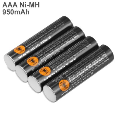 4pcs BK - 4HCCA / 4BW 1.2V 950mAh Rechargeable AAA Ni-MH Battery