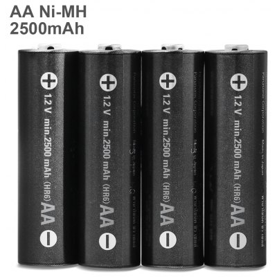 4pcs BK - 3HCDE / 4BE Ni-MH Battery