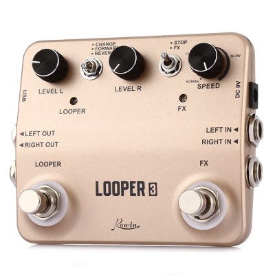 ROWIN LTL - 01 Twin Looper Effector for Musical InstrumentGuitar Parts<br>ROWIN LTL - 01 Twin Looper Effector for Musical Instrument<br><br>Brand: ROWIN<br>Materials: Metal<br>Package Contents: 1 x Guitar Effector, 1 x USB Cable, 1 x English Manual<br>Package size: 15.00 x 13.00 x 5.00 cm / 5.91 x 5.12 x 1.97 inches<br>Package weight: 0.480 kg<br>Product size: 11.60 x 9.00 x 3.50 cm / 4.57 x 3.54 x 1.38 inches<br>Suitable for: Guitar<br>Type: Effects