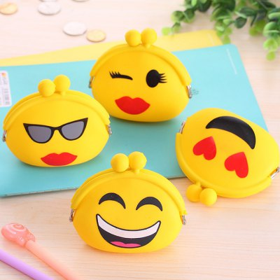 Girls Cute Purse Cartoon Emoji Coin Wallet Silicone Headset BagCoin Purse &amp; Card Holder<br>Girls Cute Purse Cartoon Emoji Coin Wallet Silicone Headset Bag<br><br>Package Size(L x W x H): 25.00 x 15.00 x 2.00 cm / 9.84 x 5.91 x 0.79 inches<br>Package weight: 0.080 kg<br>Packing List: 1 x Women Coin Wallet<br>Product Size(L x W x H): 10.00 x 3.00 x 7.00 cm / 3.94 x 1.18 x 2.76 inches<br>Product weight: 0.040 kg<br>Style: Casual