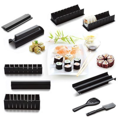Sushi Making KitOther Cooking Tools<br>Sushi Making Kit<br><br> Product weight: 0.544 kg<br>Available Color: Black<br>Package Contents: 1 x Sushi Making Kit, 1 x Russian User Manual<br>Package size (L x W x H): 26.60 x 14.40 x 8.20 cm / 10.47 x 5.67 x 3.23 inches<br>Package weight: 0.658 kg<br>Product size (L x W x H): 19.60 x 7.00 x 6.30 cm / 7.72 x 2.76 x 2.48 inches<br>Type: Cookware
