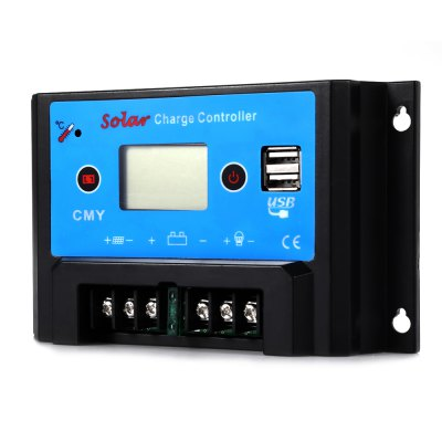 UEIUA CMY - 2410 Intelligent LCD 10A 12V / 24V PWM Solar Charge Controller Reverse