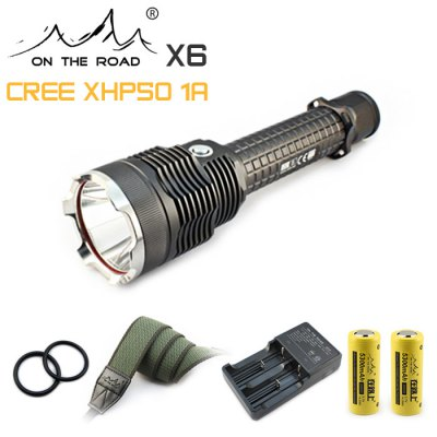 ON THE ROAD X6 LED Flashlight Set