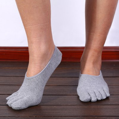 Paired Men Five Toes Anklet Socks