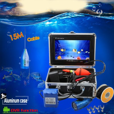 CR110 - 7LDVR15M Underwater Fishing CameraFishing Tools and Accessories<br>CR110 - 7LDVR15M Underwater Fishing Camera<br><br>Battery Included: Yes<br>Certificate: CE<br>Color: Black<br>Display Style: LCD<br>Package Contents: 1 x CR110 - 7LDVR15M Underwater Fishing Camera with 15m Cable and Reel, 1 x Monitor, 6 x 18650 Lithium-ion Battery, 1 x Float, 1 x Charger, 8 x Metal Clip, 1 x Storage Case, 1 x English User Manual<br>Package size (L x W x H): 22.50 x 12.50 x 20.00 cm / 8.86 x 4.92 x 7.87 inches<br>Package weight: 1.6800 kg<br>Product size (L x W x H): 17.20 x 11.20 x 2.00 cm / 6.77 x 4.41 x 0.79 inches<br>Product weight: 0.2800 kg
