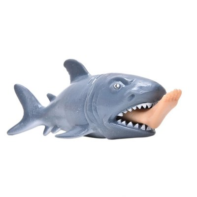 Cute Shark Style Squeeze Stress Vent Toy for White-collarWorker screaming sound pig style decompression stress release vent toy black
