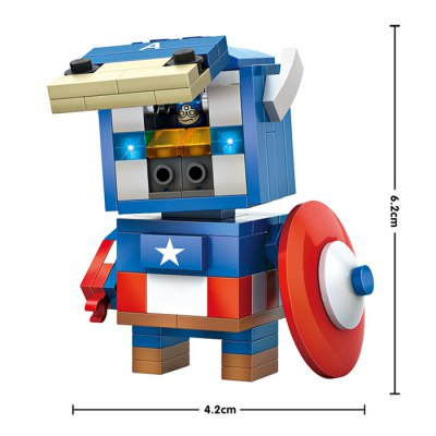 LOZ ABS Cartoon Hero Style Building BlockBlock Toys<br>LOZ ABS Cartoon Hero Style Building Block<br><br>Age: 14 Years+<br>Applicable gender: Unisex<br>Brand: LOZ<br>Design Style: Cartoon, Figure Statue<br>Features: DIY<br>Material: ABS<br>Package Contents: 142 x Module, 1 x Operation Instruction<br>Package size (L x W x H): 8.50 x 8.50 x 8.50 cm / 3.35 x 3.35 x 3.35 inches<br>Package weight: 0.080 kg<br>Product size (L x W x H): 4.20 x 3.00 x 6.20 cm / 1.65 x 1.18 x 2.44 inches<br>Puzzle Style: 3D Puzzle<br>Small Parts : Yes<br>Type: Building Blocks<br>Washing: Yes