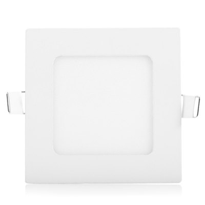 6W AC85 - 265V 450lm 6000K Cool White Square Ceiling Lamp