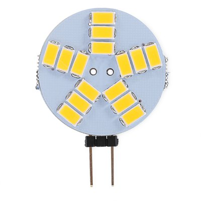 G4 15 SMD - 5730 320LM LED Instrument Panel Light Replacement for Car (Warm White Light)