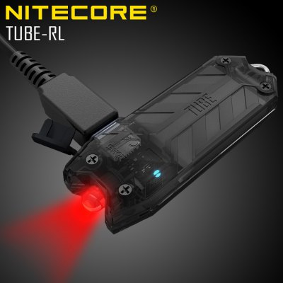 Nitecore TUBE - RL 13Lm USB Rechargeable Red LED Flashlight Miniature Design