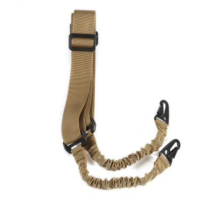 Outdoor Elastic Two-point Sling Strap with Metal BucklesOther Accessories<br>Outdoor Elastic Two-point Sling Strap with Metal Buckles<br><br>Material: Nylon<br>Package Contents: 1 x Two-point Sling<br>Package size (L x W x H): 13.00 x 8.00 x 5.50 cm / 5.12 x 3.15 x 2.17 inches<br>Package weight: 0.200 kg<br>Product size (L x W x H): 220.00 x 4.60 x 1.50 cm / 86.61 x 1.81 x 0.59 inches<br>Product weight: 0.165 kg<br>Type: Two-point