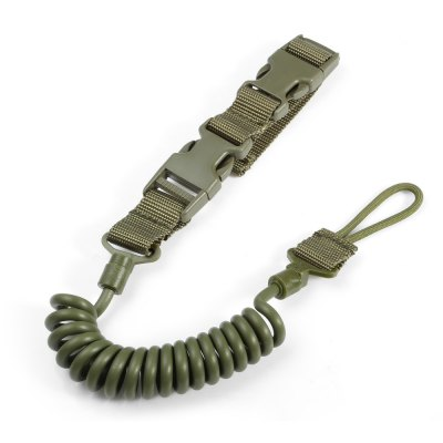 Survival Elastic Spring Tactical Sling with Lanyard