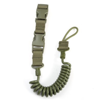Survival Elastic Spring Tactical Sling with LanyardOther Accessories<br>Survival Elastic Spring Tactical Sling with Lanyard<br><br>Material: Nylon,  polyurethane<br>Package Contents: 1 x Tactical Sling<br>Package size (L x W x H): 26.00 x 6.00 x 3.00 cm / 10.24 x 2.36 x 1.18 inches<br>Package weight: 0.130 kg<br>Product size (L x W x H): 50.00 x 3.20 x 2.30 cm / 19.69 x 1.26 x 0.91 inches<br>Product weight: 0.095 kg