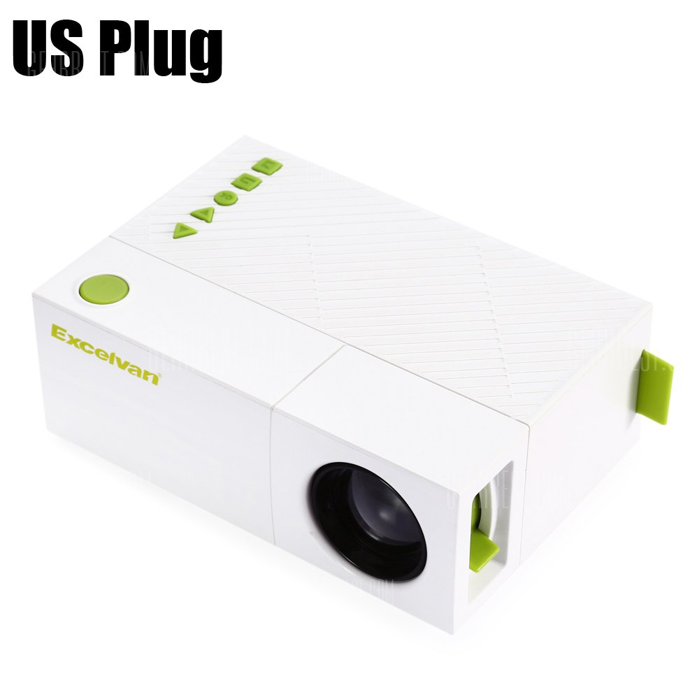 Special price for Excelvan YG310 LCD Projector  -  US PLUG  WHITE 800 Lumens 320 x 240 Pixels Support 1080P