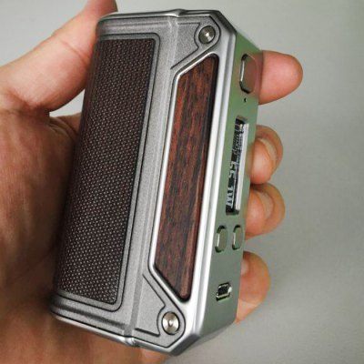 Original Lost Vape Therion DNA75 75W TC Box ModTemperature Control Mods<br>Original Lost Vape Therion DNA75 75W TC Box Mod<br><br>510 Connector Type: Spring Loaded<br>Accessories type: MOD<br>Adjustable voltage range: 0.6 - 6V<br>APV Mod Wattage: 75W<br>APV Mod Wattage Range: 51-100W<br>Atomizer Connector Diameter: 24mm<br>Battery Cover Type: Magnetic<br>Battery Form Factor: 18650<br>Battery Quantity: Dual ( not included )<br>Brand: Lost Vape<br>Material: Zinc Alloy, Wood, Leather<br>Mod: Temperature Control Mod,VV/VW Mod<br>Model: Therion DNA75<br>Package Contents: 1 x Lost Vape Therion DNA75 75W TC Box Mod<br>Package size (L x W x H): 12.30 x 6.20 x 4.30 cm / 4.84 x 2.44 x 1.69 inches<br>Package weight: 0.3600 kg<br>Product size (L x W x H): 2.40 x 4.70 x 8.80 cm / 0.94 x 1.85 x 3.46 inches<br>Product weight: 0.1730 kg<br>Temperature Control Range: 200 - 600F<br>Type: Electronic Cigarettes Accessories