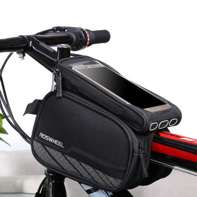 Roswheel 12813 - A2 Cycling BagBike Bags<br>Roswheel 12813 - A2 Cycling Bag<br><br>Brand: Roswheel<br>Color: Black<br>Emplacement: Front Tube<br>For: Unisex<br>Material: Tarp, Polyester<br>Model Number: 12813 - A2<br>Package Contents: 1 x Roswheel Bicycle Front Tube Bag<br>Package Dimension: 20.00 x 16.00 x 10.00 cm / 7.87 x 6.3 x 3.94 inches<br>Package weight: 0.388 kg<br>Product Dimension: 18.50 x 15.00 x 9.50 cm / 7.28 x 5.91 x 3.74 inches<br>Product weight: 0.248 kg<br>Suitable for: Cross-Country Cycling, Mountain Bicycle, Road Bike, Touring Bicycle