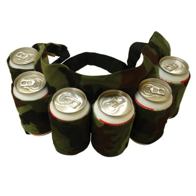 Portable High-quality 6-pack Outdoor Beer Belt Bottle HolderWaistpacks<br>Portable High-quality 6-pack Outdoor Beer Belt Bottle Holder<br><br>Color: Black,Blue,Camouflage<br>Material: Oxford Fabric<br>Package Contents: 1 x Beer Belt<br>Package Size(L x W x H): 21.50 x 18.50 x 3.00 cm / 8.46 x 7.28 x 1.18 inches<br>Package weight: 0.250 kg<br>Product Size  ( L x W x H ): 63.00 x 17.50 x 1.50 cm / 24.8 x 6.89 x 0.59 inches<br>Product weight: 0.210 kg<br>Type: Other Camping Gear