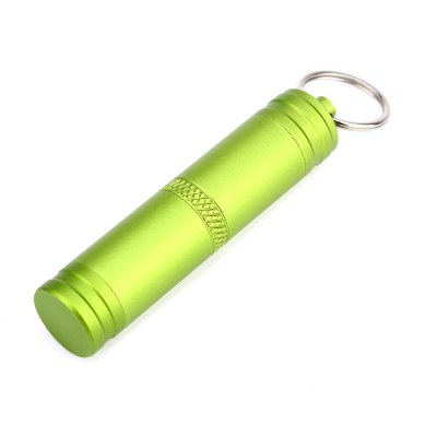 Portable Key Ring Pill Seal Pot Waterproof Bottle for OutdoorSurvival<br>Portable Key Ring Pill Seal Pot Waterproof Bottle for Outdoor<br><br>Material: Aluminum Alloy<br>Package Contents: 1 x Waterproof Seal Bottle<br>Package Size(L x W x H): 10.00 x 8.00 x 2.00 cm / 3.94 x 3.15 x 0.79 inches<br>Package weight: 0.055 kg<br>Product Size  ( L x W x H ): 7.40 x 1.60 x 1.60 cm / 2.91 x 0.63 x 0.63 inches<br>Product weight: 0.015 kg