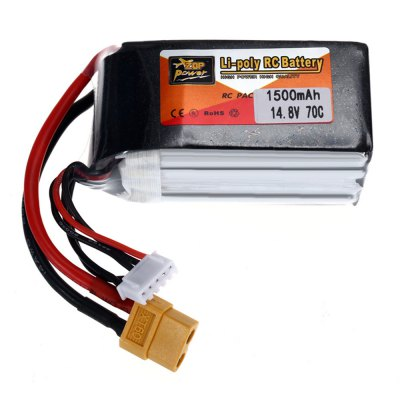 ZOP Power XT60 Plug 14.8V 4S 1500mAh 70C Battery