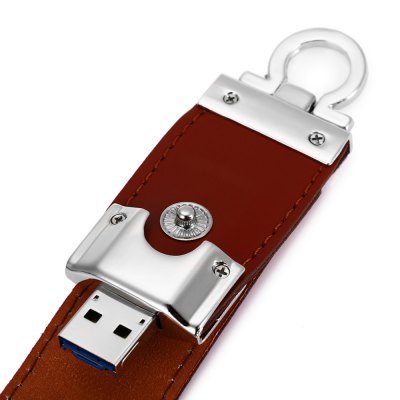 Portable Leather 2 in 1 64GB OTG Micro USB + USB 3.0 Flash Drive